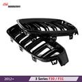 M3 estilo F30 kidney grille grill preto styling M Desempenho bumper grade para BMW Série 3 2012 + 318d F31 F35 F30 316i 320i 325d