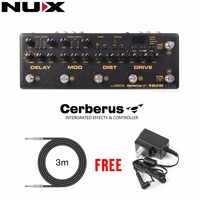 NUX Cerberus Multi Function Effect Pedal Inside Routing IR Loader Analog Qverdrive Distortion 4 Cable Method