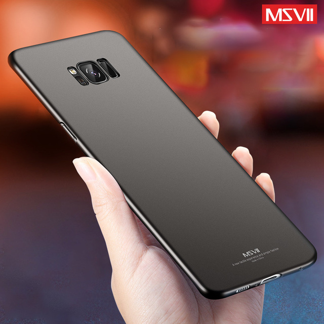 best value 044f0 8ad52 US $3.99 20% OFF|Msvii For Samsung S8 Case Slim Full Hard Frosted PC Cover  Case for Samsung Galaxy S8 Plus S9 Plus Protective Cover for Galaxy S9-in  ...