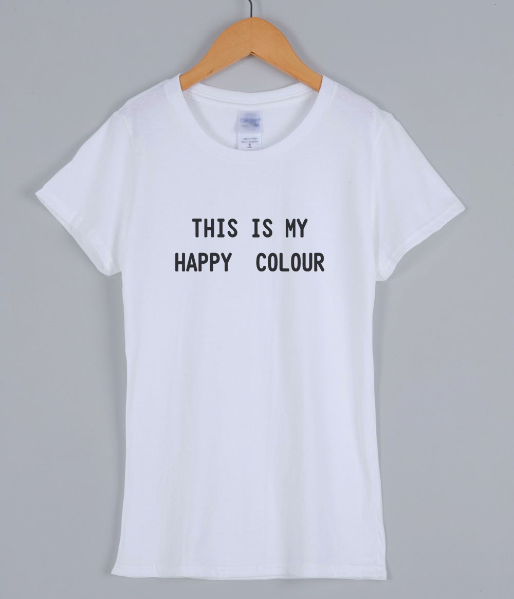 This Is My Happy Colour fashion letter printed T-shirts for women 2019 summer cotton female T-shirt korean style t shirt top