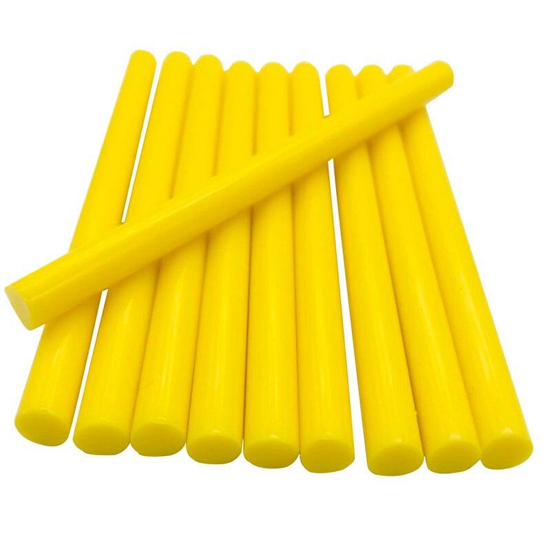 10 Pcs Yellow Color 7MM Hot Melt Glue Sticks  For  Electric Glue Gun Car Audio Craft Repair Sticks Adhesive Sealing Wax Stick
