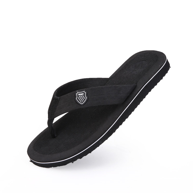 Summer Shoes Men Sandals Beach Slippers Men Flip Flops Black Outdoor Sandals Men Slippers Sandalia Masculina Size 40-44 PINSV
