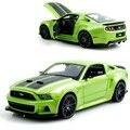 Mustang Boss 302 Зеленый 1:24 Модель Сплава Металла Гоночный Автомобиль Play Коллекционные Модели Sport Cars toys For Gift