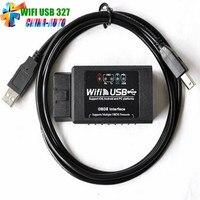2018 Yeni Güncelleme ELM327 WIFI ELM327 USB Tarayıcı Teşhis Aracı ELM 327 için Wifi OBD ii Destek Ios/Android 1 Adet Ücretsiz gemi