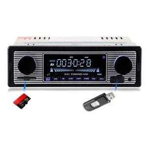 Bluetooth винтажное автомобильное радио MP3 плеер стерео USB AUX классический автомобильный стерео аудио