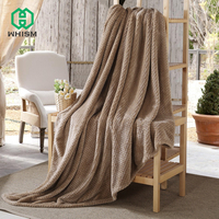 WHISM Plaid Bedspread Bedding Sheet Super Soft Flannel Throw Blanket Home Textile Warm Sleeping Wrap Decorative Throws for Sofa