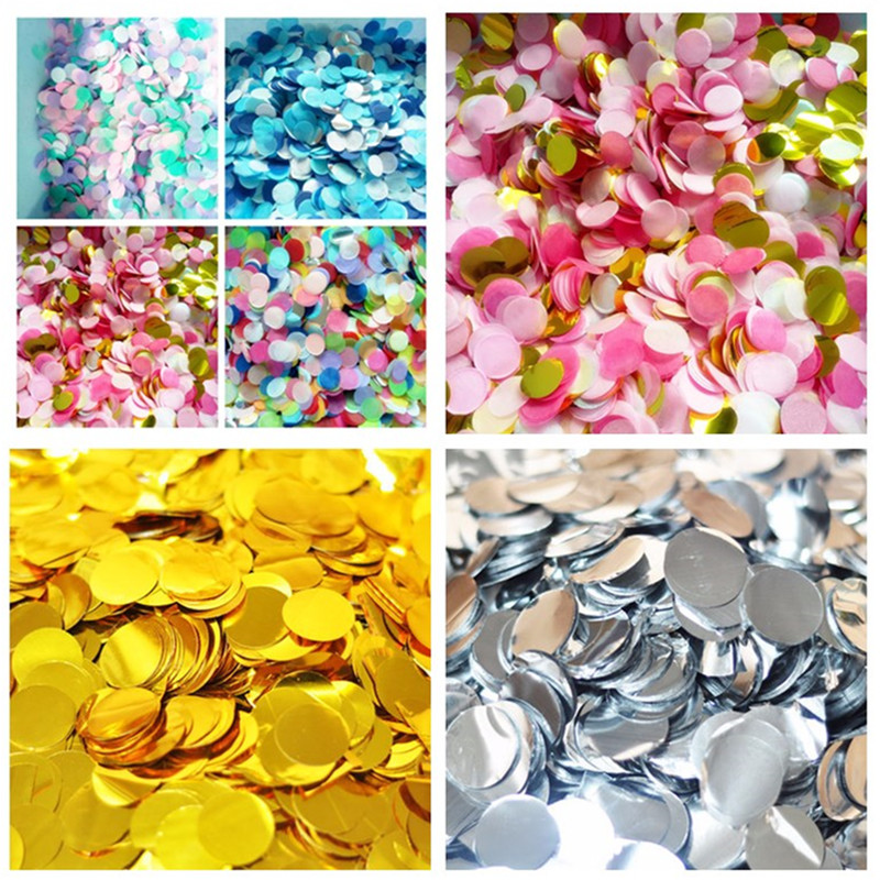 Event & Party 1 Pack 2.5cm Bright Gold Sprinkle Tissue Paper Confetti Wedding Bride Flower Circle Shape Birthday Party Table Ballon Decoration Home & Garden