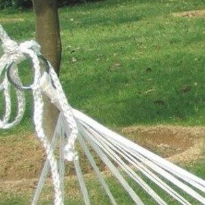 Image 5 - في الهواء الطلق التخييم المحمولة أرجوحة شخص واحد شبكة حبل نايلون الأرجوحة داخلي الأطفال الترفيه أرجوحة