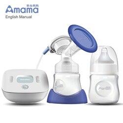 Neue Amama Elektrische Brust Pumpe Mit smart LCD Bildschirm, einzigen USB Elektrische brust pumpe für Brust Milch Saug-und Brust Massage