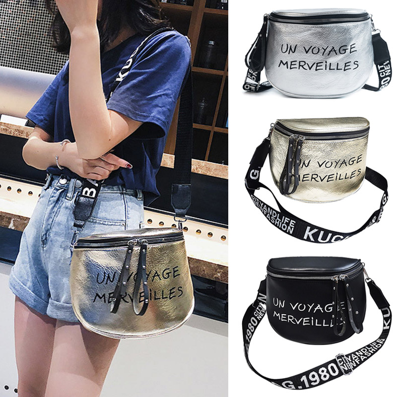 Lady Girl Shoulder Crossbody Bag PU Double Zipper Fashion For Mobile Phone Money Popular GS Shop