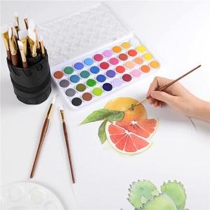 Image 5 - CONDA 20 pcs מברשת צבע סט אמן סט עבור אקריליק שמן צבעי מים ציור ערכות מקצועי עץ ידית עם PU תיק