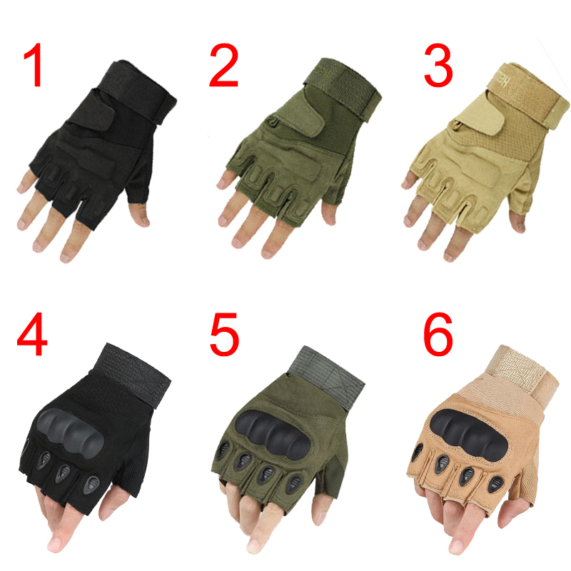 Tactical Hard Knuckle Fingerless Gloves