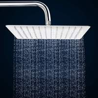 Xueqin 12 Inch Square Bathroom Stainless Steel Rain Shower Head Rainfall Bath Shower Chrome Top Sprayer 114 Holes