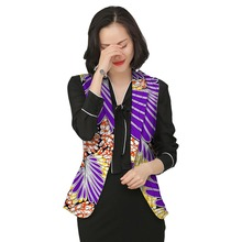 Fashion Africa Style Print Women  Jackets Fashion African Jacket Ladies  Costume Sleeve Coats Customized