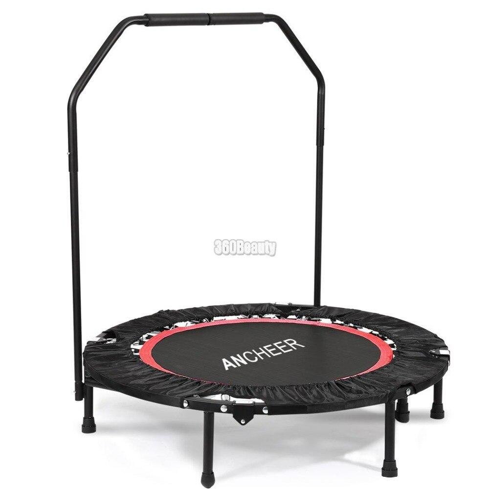 ANCHEER 40 pouce Mini Pliage Trampoline Fitness Workout Rebondeur Enfants Trampoline pour enfants avec Réglable Angle de Rampe