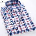MCHAMCHI Mens Shirts 2017 New Spring Long Sleeve Slim Fit Plaid Casual Shirt Camisa Masculina Male Brand Clothing Plus Size 5XL