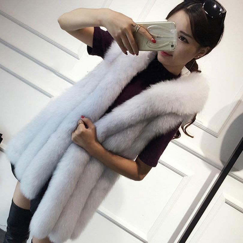 Rompi Mantel 2018 Baru Musim Dingin Bulu Rubah Rompi Bulu Imitasi - Pakaian Wanita - Foto 3