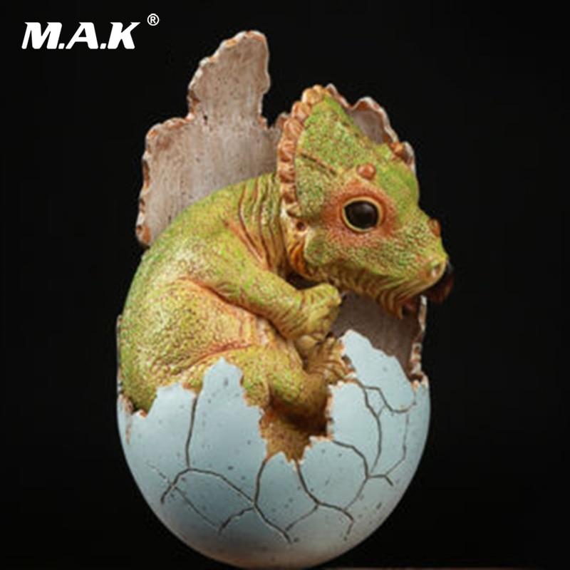 Pour collection Bébé À Couver Oeuf EDAGE Résine Modèle Jouets Vert monde jurassique Triceratops Dinosaure