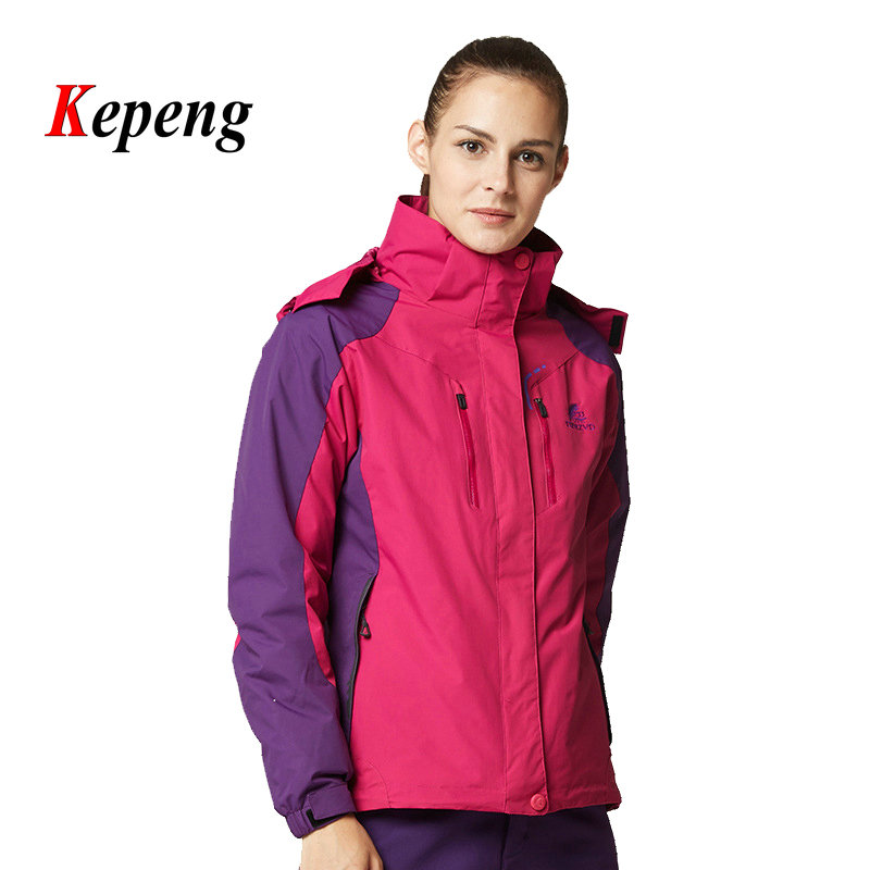 ФОТО  new Outdoor 3 in 1 Jacket Men Women Mountaineering Climbing Camping Hiking Hunting Clothes Waterproof Thermal Ski Suit