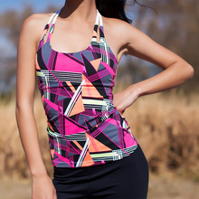 Candy Colors Backless Bandage Tank Tops Women  Sporting Fitness Vest  Sexy Stitching bodybuilding Elastic Breathable Sleeveless