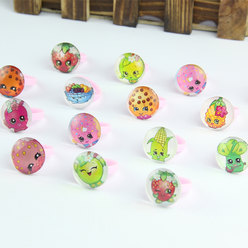 Wholesale font b Jewelry b font Lot 1pcs Lovely Cartoon Fruit Girls kids Children Acrylic Rings