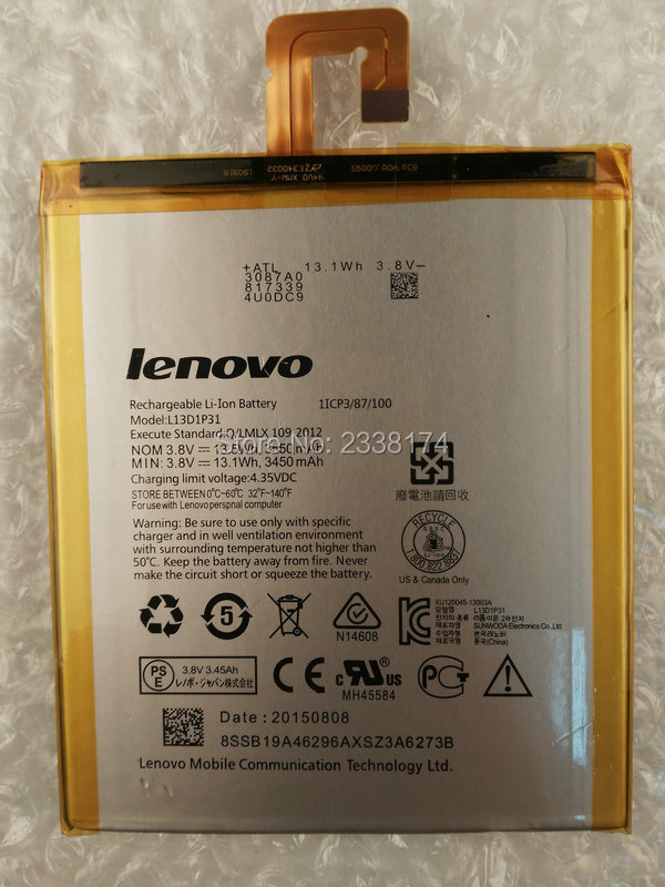 1pcs 100% High Quality L13D1P31 Battery for Lenovo LePad S5000 S5000-H Tablet PC Mobile phone Freeshipping + Tracking Code