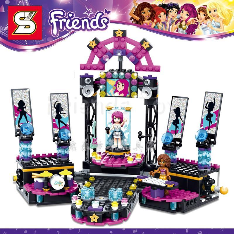 476pcs Girls Friends Set Pop Star Recording Studio Livi Andrea Building Brick Blocks Mini Toy
