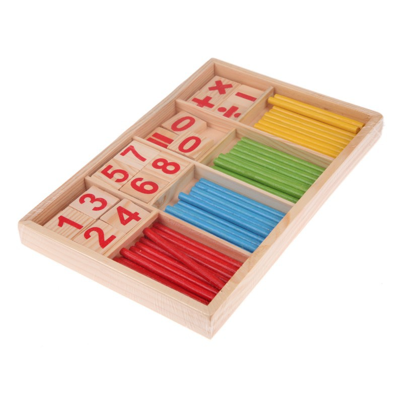 Math Toys Learning & Education Confident Free Ship Baby Matching Toys 100 Wooden Children Arithmetic Learning Number Counting Stick Useful For Kids High Quality
