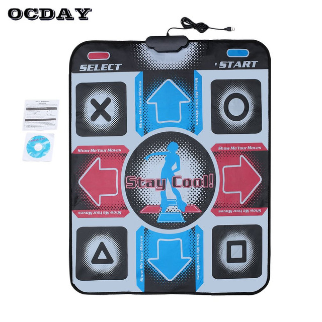 Kids Non-Slip Dancing Play Mat For HD Step Pad Baby Dancer Blanket Toy Sports Foot Print Mat to PC with USB Indoor Games Carpet