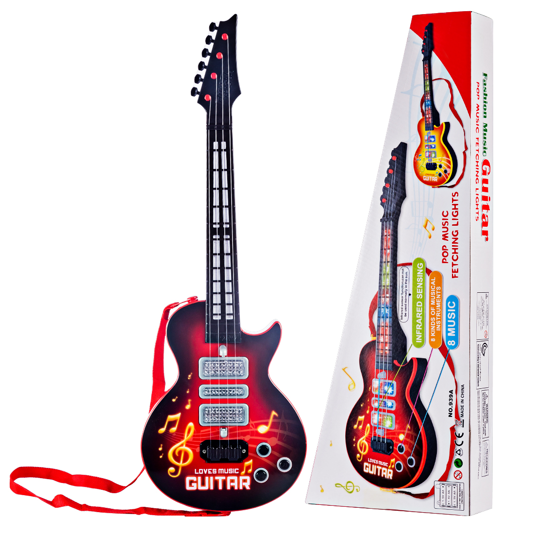 Hiqh Recommend 4 Strings Music Electric Guitar Toy Musical Instruments Educational For Children Juguetes  New Year Birthday Gift