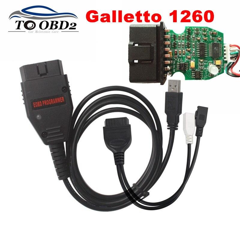 Prix pour Meilleure Qualité Auto ECU Flasher OBDII Compatible Galletto 1260 Augmenter Carburant Effcienty EOBD 1260 Programmeur Chip Tuning Outil