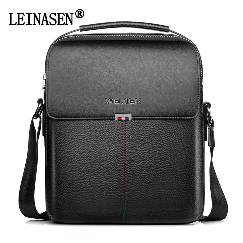 LEINASEN Brand Men's High Quality Crossbody Bags Male Handbag Fashion Shoulder PU Leather Man Messenger Bag Business Work Bag