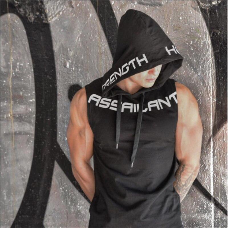 Fitness bodybuilding Tank Top Hoodie 3