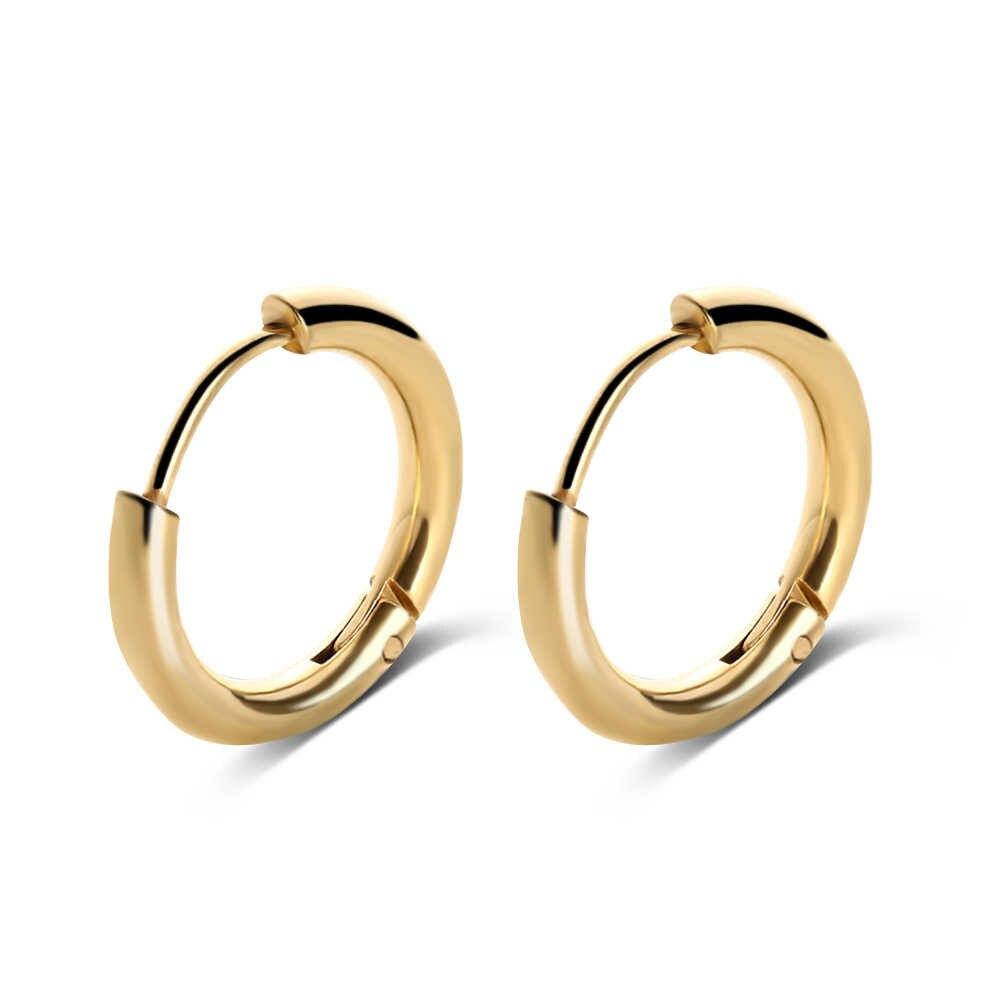 ac676a9432ed1 2019 New Arrival 1 Pair Men's Women's Stainless Steel Tube Ear Studs Hoop  Huggie Punk Earrings Simple Fashionable Jewelry