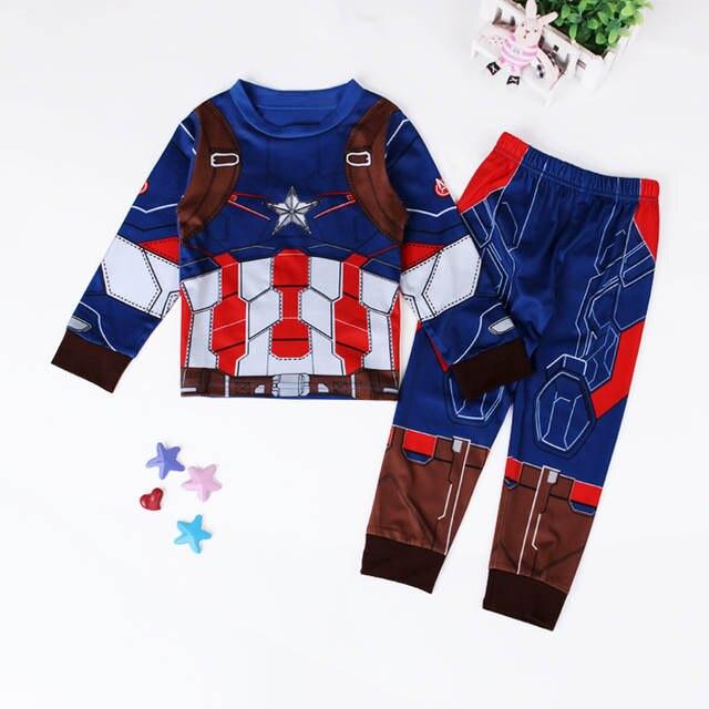 b25ce6252 placeholder 2016 outono pijama para meninos de Super herói pijama calças  Hulk Batman homem de ferro treino