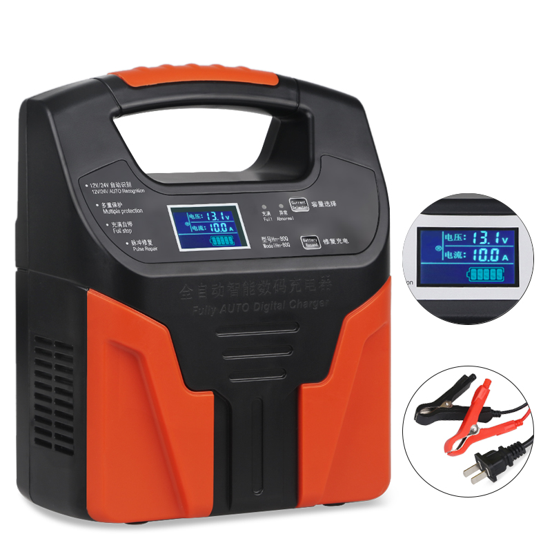 Intelligent Rapide 12 v 24 v chargeur de batterie intelligent De Voiture Moto 110 V 220 V Entièrement Automatique Batterie Au Plomb De Charge Impulsion réparation