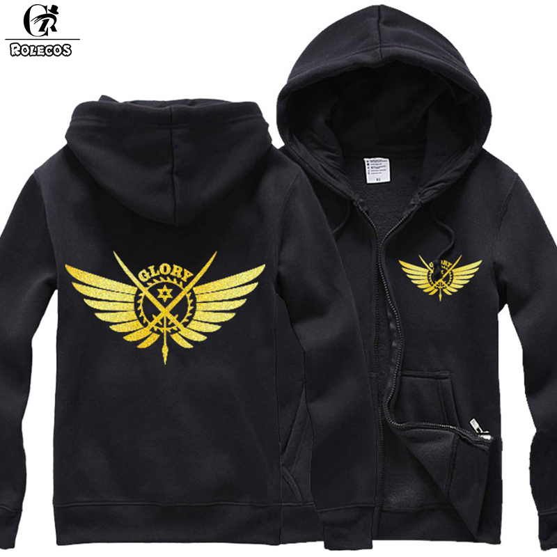ROLECOS New Anime Quan Zhi Gao Shou The King's Avatar Cosplay Costumes Game Glory Logo Print Jacket Cosplay Hoodies Sweatshirts