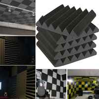 8 шт. 30x30x5 см акустическая пена для звукоизоляции регулирование звука студия поглощения комнаты Клин плитка полиуретановая пена