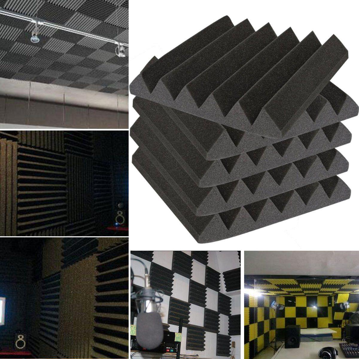 8Pcs 30x 30x 5cm Acoustic Foam Soundproofing Foam Sound Treatment Studio Room Absorption Wedge Tiles Polyurethane Foam