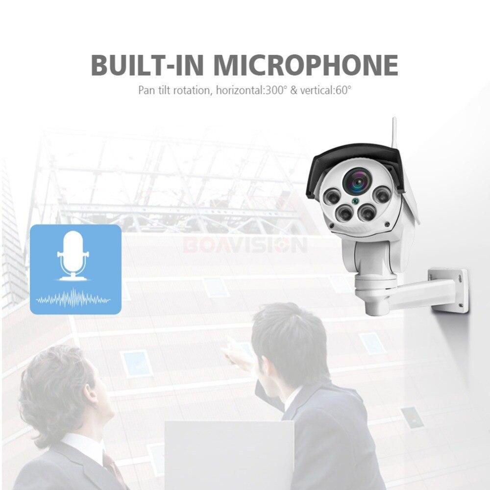 HD 1080 P bala Wifi IP PTZ cámara de Audio 5X/10X Zoom óptico de enfoque de la lente 2MP CCTV inalámbrico cámara IP al aire libre Onvif CamHi - 3