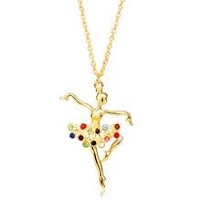 MQCHUN – pendentif de noël pour femmes, 1 pièce, bijou de ballerine, de Ballet, breloque, vente en Gros