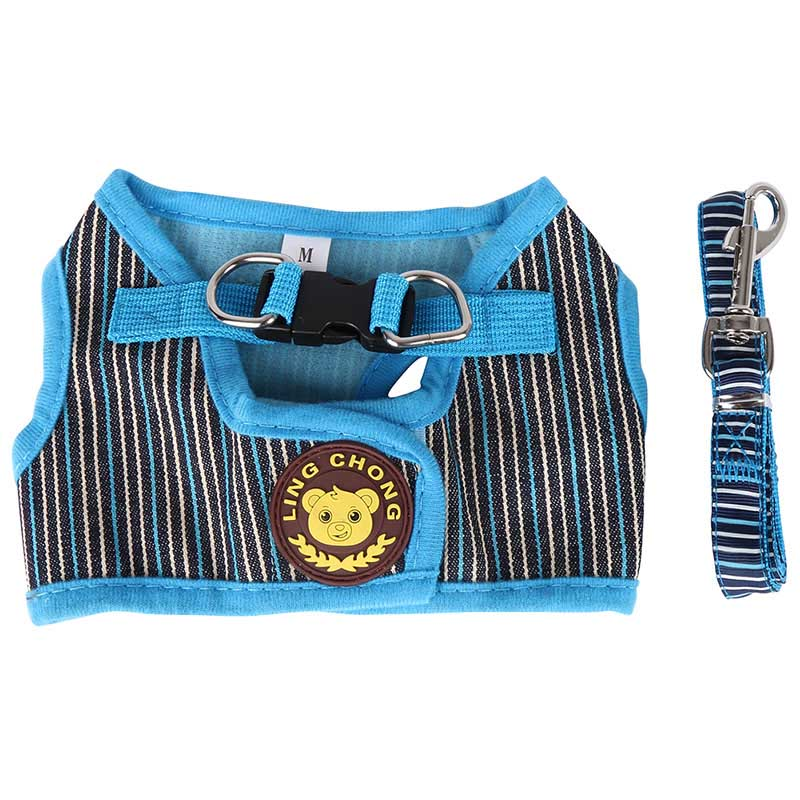 New Soft Puppy Small Dog Harness and Walking Leash Leads Set 4 Sizes 3 Colors S M L XL Collares