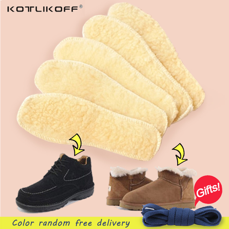 KOTLIKOFF 1 pair Unisex Men Wemen Snow Boots Shoes Pads Winter Warm Soft Imitation wool Winter Shoe Insole Pad Size 35-45 honeycomb structure unisex 2 layer height increased shoe insole pads deep pink pair