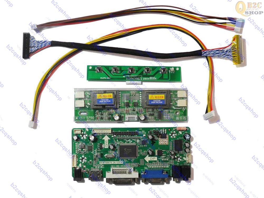 Intelligente Haustechnik Intelligente Elektronik Lcd Treiber-platine Lvds Inverter Kit Für Panel Ltm230ht01 1920x1080 hdmi + Dvi + Vga