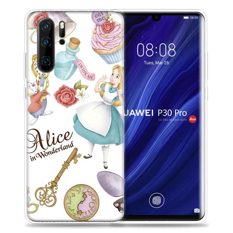 Alice in Wonderland punk Case for Huawei P20 P30 P Smart Z Plus Nova 5 5i P10 P9 Mate 10 20 lite Pro Silicone Phone Bags Capa
