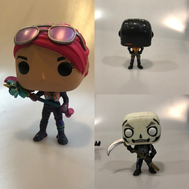Original Funko pop Secondhand Games Bright Bomber, Skull Trooper, Dark Voyager Vinyl Action Figure Collectible Model Loose Toy