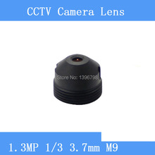 Infrared surveillance camera HD 1.3MP pinhole lens 3.7mm M9 thread CCTV lenses