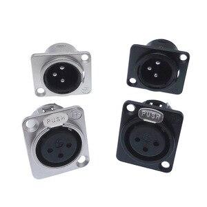 1 шт. Cannon XLR металлическая розетка YS145 YS146 Мужской Женский 3-контактный разъем для микрофона YS145BG YS146BG