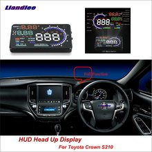 Liandlee Car HUD Head Up Display For Toyota Crown C-HR S210 2012-2018 Safe Driving Screen Full Function OBD Projector Windshield liandlee car hud head up display for chevrolet colorado s10 gmc canyon 2012 2018 safe driving screen obd projector windshield