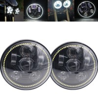 2Pcs 5.75 Led Headlights For Triumph Speed/Street Triple Thunderbird Rocket 3 45W White Halo For Motorcycles